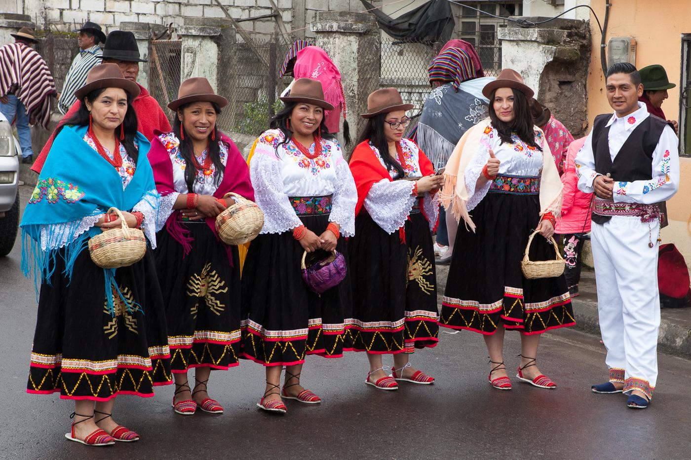 Procession i Toacazo, Ecuador